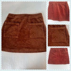 FOREVER 21 Red Velvet Mini Skirt